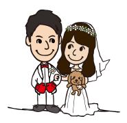 結婚式のスヌーピー風ウェルカムボード